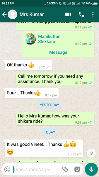 mrs kumar alleppey shikara review