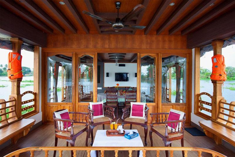 five bedroom houseboat alleppey